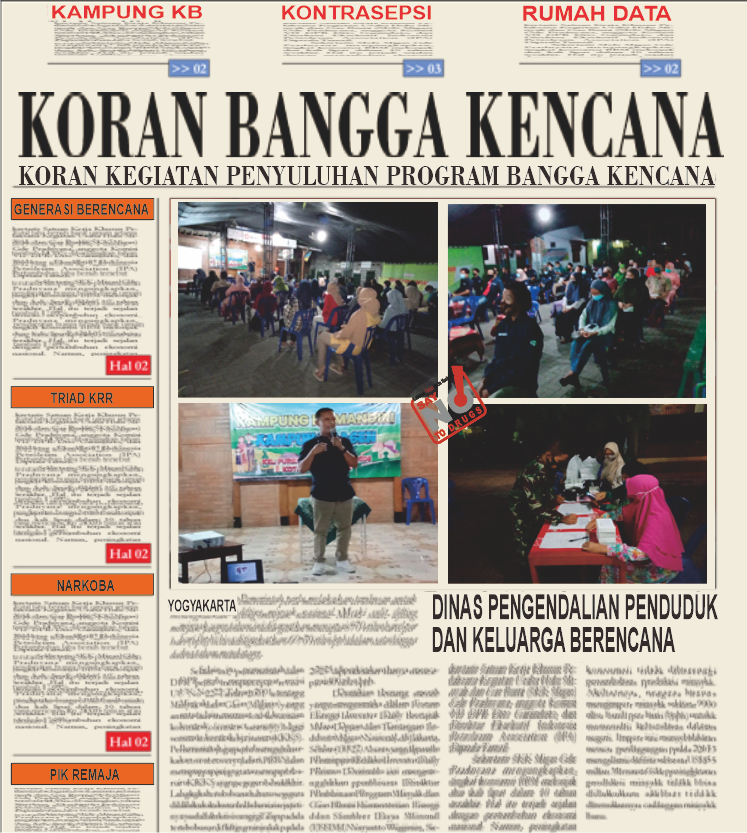 Penyuluhan Narkoba di PIK R kampung KB Basen Kec. Kotagede