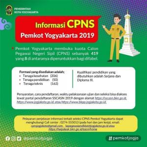 CPNS 2019 - Pemerintah Kota Yogyakarta