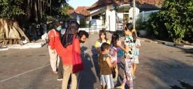 Forum Anak Kota Yogyakarta (FAKTA) Bagi-Bagi masker dalam menyambut Hari Anak Nasional (HAN) Tahun 2020