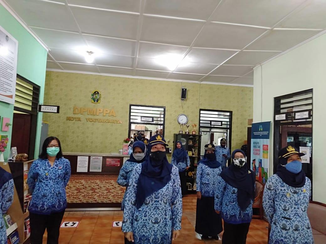 Pelaksanaan Upacara Virtual 17 September  2020  DPMPPA Kota Yogyakarta