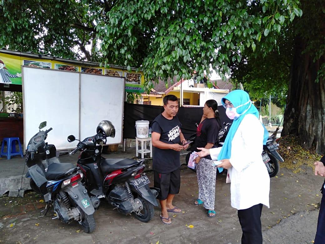 Sosialisasi pencegahan virus corona atau covid 19 di Kelurahan Prenggan Yogyakarta